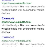 Google Mobile Friendly Label